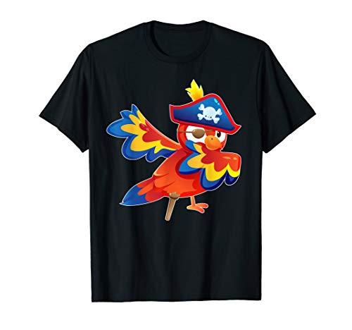 Niedliche Piraten-Papageien-Vogel-Halloween-Kostüm-Gifts T-Shirt