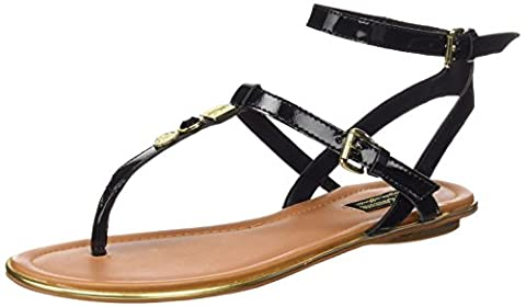 Juicy Couture Marianna, Women's Sandals, Pitch Black Patent, 6.5 UK (39.5 EU)