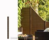 Zaunpfosten für Polyrattan Sichtschutz, Höhe 155cm mocca - Sichtschutz, Sichtschutz Elemente, Sichtschutzwand, Windschutz