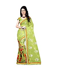 Airson Fab Yellow Lotus Designer Saree
