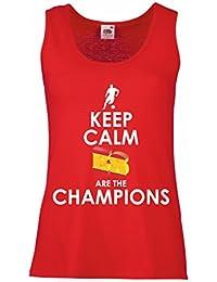 lepni.me Camisetas sin Mangas para Mujer Españoles Son los campeones, Campeonato de Rusia