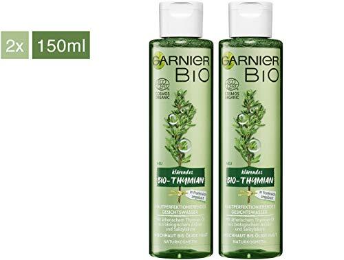 Garnier Bio Gesichtswasser Thymian Öl Gesichtsreinigung, Naturkosmetik, Thymian Hautperfektionierendes Gesichtswasser, 2er Pack (2 x 150 ml)