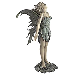 41rPVVAeetL. SS300  - Design Toscano Spirit of the Wind Fairy Outdoor Garden Statue, Polyresin, Two Tone Stone, 68.5 cm