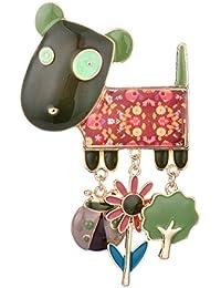Ruilong - spilla a forma di cagnolino, in lega smaltata, gioiello e accessorio per borse e abbigliamento, per donne e ragazze