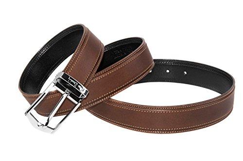 Cintura uomo PIERRE CARDIN cinta classica marrone in pelle lunga 120 cm R5826