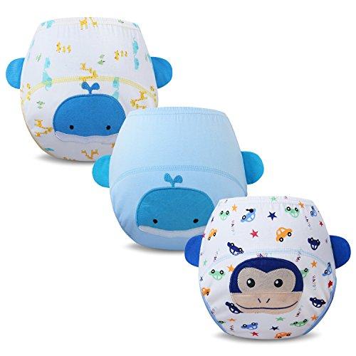 Ateid mutandine di apprendimento bambino confezione da 3 blu 2-3 anni