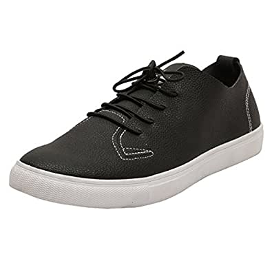 3e1248cb56a Vostro Lester Black Casual Shoes or Sneakers for Men/Boys: Buy ...