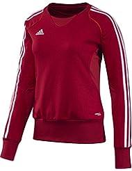 adidas Pullover T12 Team Crew Sweater X13717 - Prenda, color rojo / blanco, talla 32