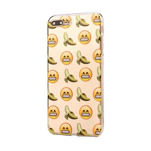Für Iphone 7 Plus hülle Jamicy® Emoji Extra dünn Fallschutz Objektivschutz Rutschfest Schutzhülle Weiches Silikon handyhülle Telefonschale Für Iphone 7 Plus 5.5'' (I) C