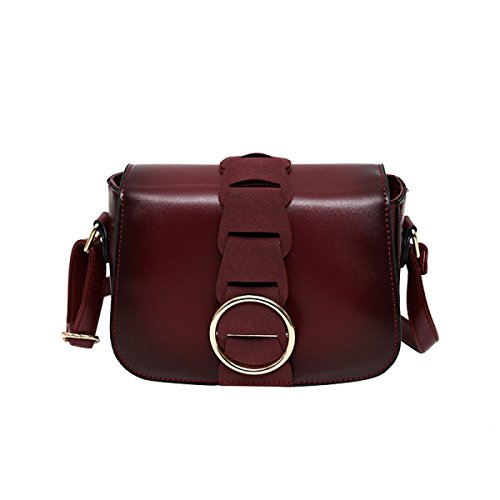 KYFW Womens Retro Mini-Schulter Messenger Bag Weibliche Kleine Quadratische Tasche Handtasche Handtasche A