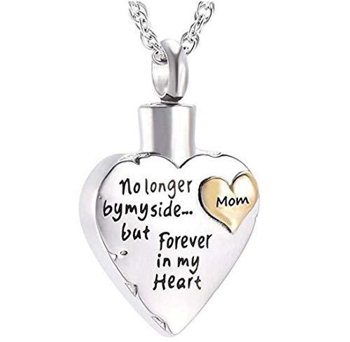 Nicht mehr an meiner Seite für immer in meinem Herzen geliebt Geschnitzte Medaillon-Feuerbestattung Urne Anhänger Halskette für Männer Frauen Pet's Asche mit Free Fill Kit +21