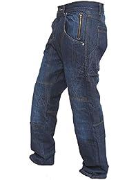 pantalon denim bleu les armures des hommes moto moto de motards jeans de pantalon renforcés avec doublure de protection en aramide