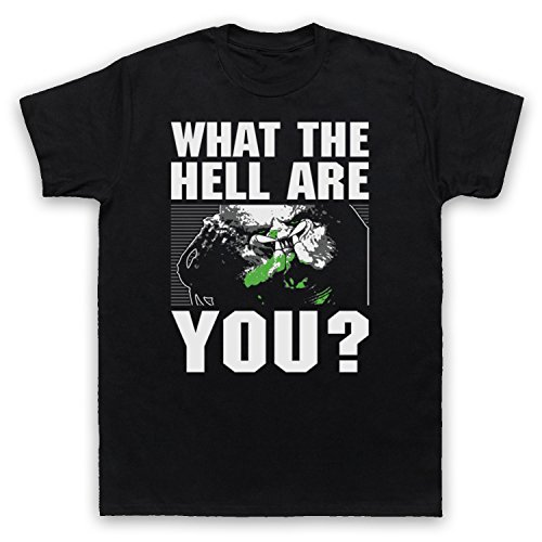 Inspiriert durch Predator Face What The Hell Are You Unofficial Herren T-Shirt Schwarz