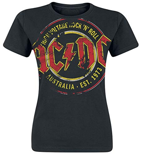 AC/DC High Voltage - Australia Est. 1973 Vintage Camiseta Mujer...