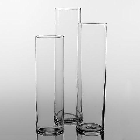 Eastland® Tall Cylinder Vases Set of 3 (3 Different