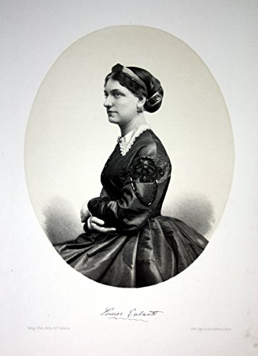 Louise Ehrhartt Schauspielerin Wien Berlin Portrait Lithographie Litho