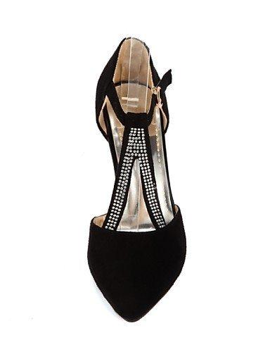 ShangYi Chaussures Femme - Mariage / Bureau & Travail / Soirée & Evénement - Noir / Bleu - Talon Aiguille - Talons - Talons - Similicuir Blue