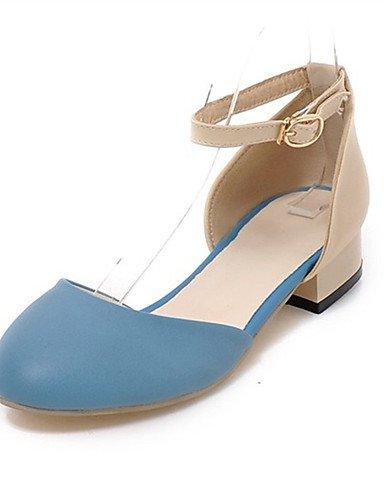 WSS 2016 Chaussures Femme-Mariage / Habillé / Décontracté / Soirée & Evénement-Noir / Bleu / Vert / Rose-Gros Talon-Talons-Talons-Similicuir blue-us9 / eu40 / uk7 / cn41