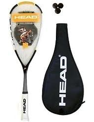 Dunlop Biotec Titanium - Raqueta de squash (funda y 3 pelotas de squash incluidas)
