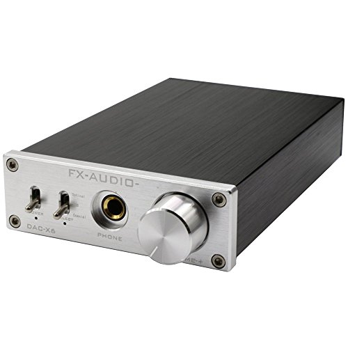 Nobsound Hi-Fi Kopfhörerverstärker Headphone Amplifier&USB DAC Audio Decoder Opt/Coax IN Unterstützung OTG (Silber) -