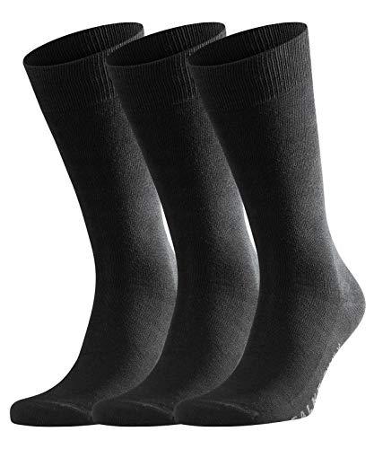 falke herrensocken FALKE Herren Socken Family 3er Pack, Schwarz (3000), 43/46
