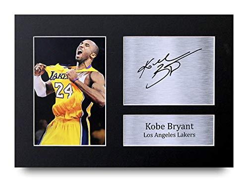 HWC Trading Kobe Bryant Geschenke Unterzeichneten A4 Gedrucktes Autogramm Los Angeles Lakers Foto-Anzeige