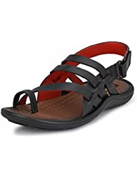 Mactree Men's Genuine Leather Gladiator Sandals-7004