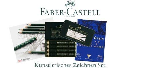 FABER CASTELL 'Künstlerisches Bleistifte Set' | 12 Bleistifte höchster Qualitat (12 weiche...