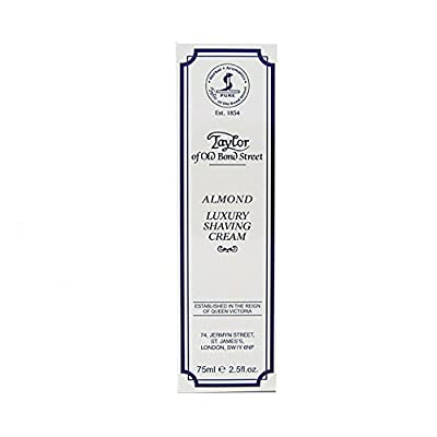 Taylor of Old Bond Street 75ml Almond Shaving Cream Tube