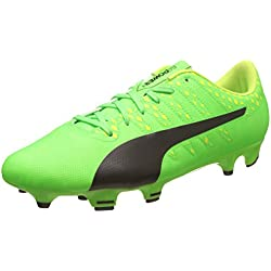 Puma Evopower Vigor 4 FG, Botas de fútbol para Hombre, Verde (Green Gecko Black-Safety Yellow 01), 43 EU