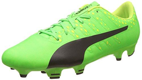 Puma Evopower Vigor 4 Fg, Scarpe da Calcio Uomo, Verde (Green Gecko Black-Safety Yellow 01), 41 EU