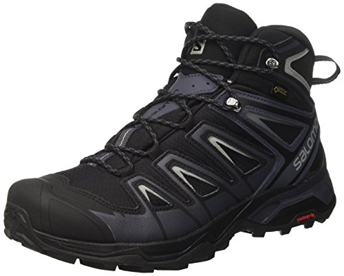 Salomon Herren Ultra 3 Mid Gtx Trekking-& Wanderschuhe, Schwarz (Black/India Ink/Monument), 40 2/3 EU