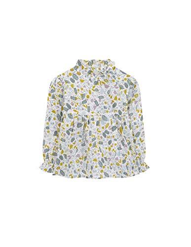 Gocco Blusa Estampada Blusa, Bebé-Niñas, Marfil (Crudo EA), 92 (Tamaño del Fabricante:18/24)