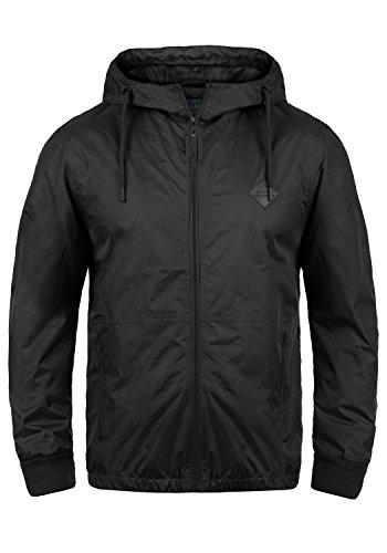 Blend Matt Herren Windbreaker Regenjacke Übergangsjacke Mit Kapuze, Größe:3XL, Farbe:Black (70155)