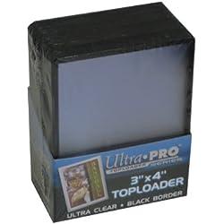 ウルトラプロ トップローダー ホルダー 黒枠 (BLACK) BOX (25枚入り)
