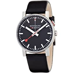 Mondaine Herren-Armbanduhr SBB Evo Alarm 40mm Analog Quarz A4683035214SBB