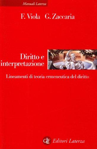 Diritto e interpretazione. Lineamenti di teoria ermeneutica del diritto
