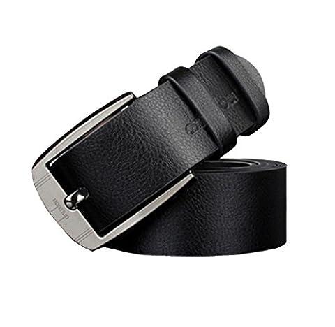 Covermason Nouveaux hommes cuir boucle en métal ceinture Vintage classique