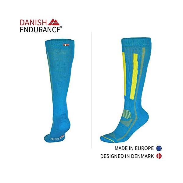 DANISH ENDURANCE Calze da Sci Invernali in Lana Merino, Trekking, Escursionismo e Alpinismo per Uomo, Donna & Bambino… 3 spesavip
