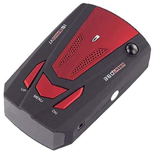 Radar Detektor - TOOGOO(R)V7 LED Anzeige 360 Grad Auto Geschwindigkeitsmesser GPS Radar Detector (Rot)