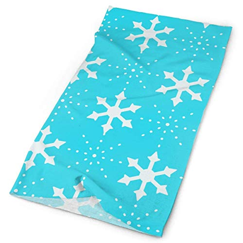 Wfispiy White Snowflakes Outdoors & Daily Headwear,Bandana,Headband,Neck Gaiter,Balaclava,Helmet Liner for Running Riding Skiing Hiking Block China Black Pearl