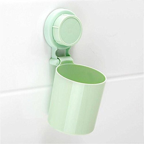 Z@SS-Kreative Paar Sauger Zahnbürstenhalter Saugwand Zahnbürste Tasse Spülen Tasse Bürste Zahn Tasse Zahnbürste Box . green 1