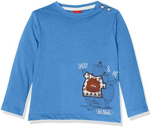 s.Oliver Junior s.Oliver Junior Baby-Jungen Langarmshirt 65.810.31.8305 Blau (Blue 5511) 62