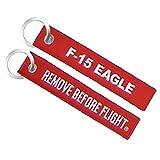 Eagle Crest F-15 Remove Before Flight Embroidered Keyring