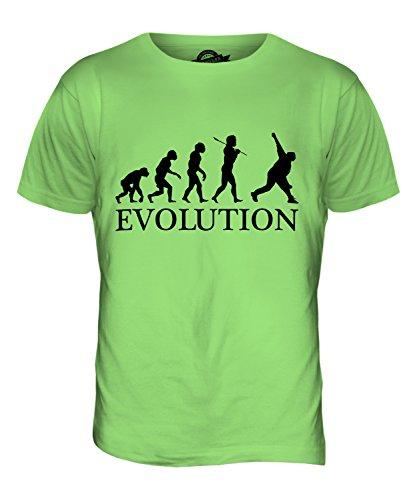 CandyMix Cricket Bowler Evolution Des Menschen Herren T Shirt Limettengrün