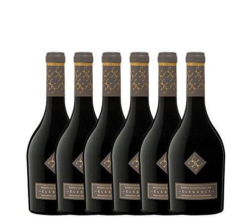 """Elégance Caisse de 6 Bouteilles Vin Rouge AOP Côtes de Provence 2016 750 ml,""""__ A CREER"""","""