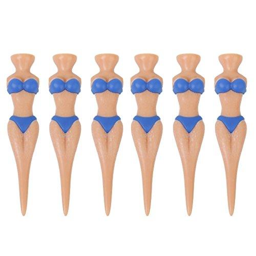 GGOOD Tees Golf-T-Shirt für Damen, 6 Stück, sexy Bikini-Golf-T-Shirts, weibliche Form, Kunststoff, für Damen, Golfmodell, Hellblau