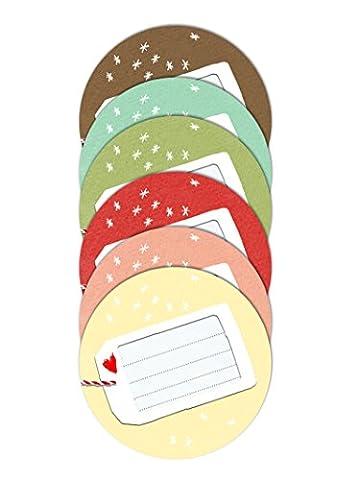 24x Freitext Aufkleber - FREITEXT - pastellfarbene Geschenkaufkleber für Weihnachten,