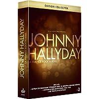 Coffret Prestige HALLYDAY : La dernière Interview filmée de Johnny + des Bonus exclusifs et inédits + Le DVD des Scopitones des années 1960-1968 + Photo