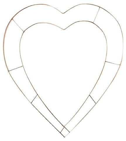 Signature 38 cm Wire Heart Wreaths, Pack of 10, Bronze, 10-Piece